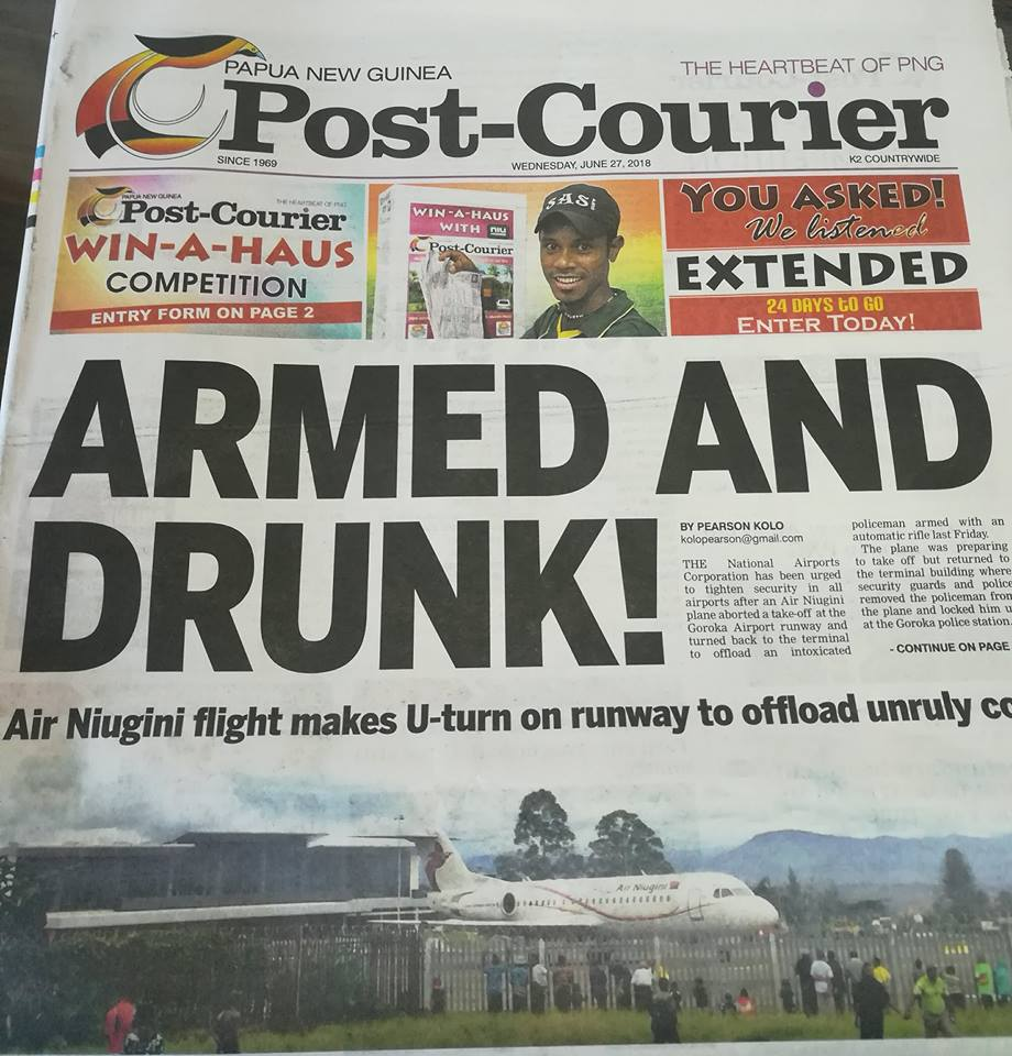 Air Niugini Labels Post Courier Report 'incorrect And