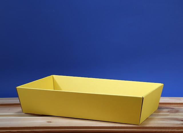 Kosz prezentowy prostokątny 25 x 46 żółty