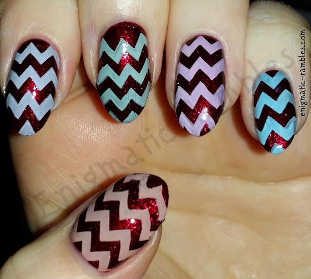 Pastel-Chevron-Stamped-Nails-Nail-Art