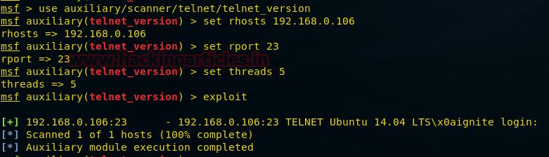 Penetration Testing on Telnet (Port 23)
