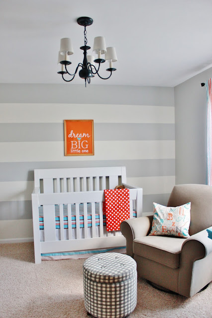 nursery striped wall