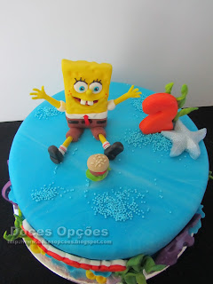 SpongeBob sugar paste cake