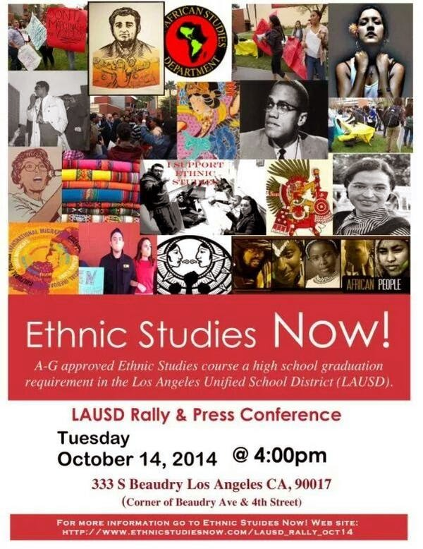 Ethnic Studies Rally at LAUSD 14 October 2014