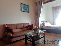The Manor 2 HCM bán căn hộ block G 36m2 | sofa gần giường ngủ