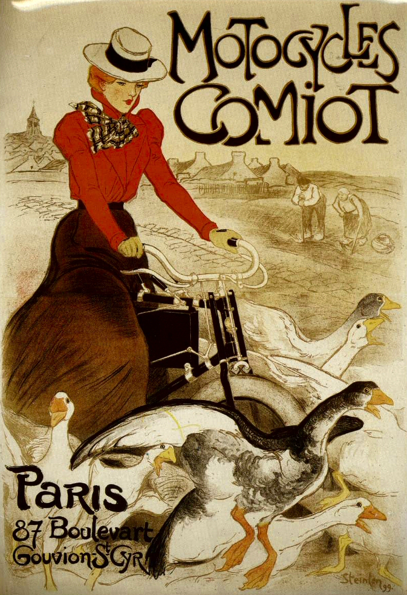 magical vintage de johanne l affiche publicitaire motocycles comiot. Black Bedroom Furniture Sets. Home Design Ideas