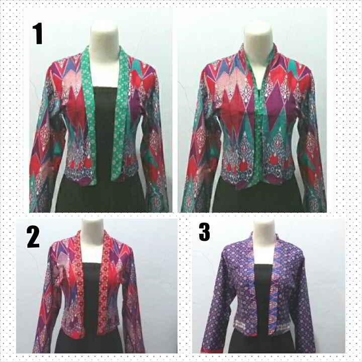 Contoh Baju Batik Atasan Model Bolero