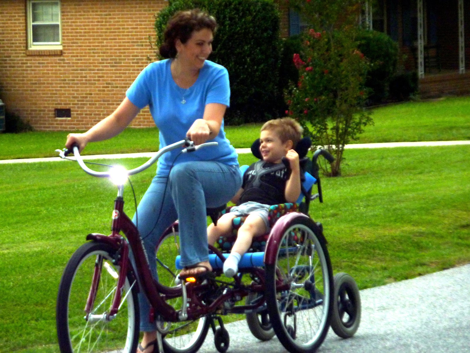 the bike chair how to adjust office eliah james diy special needs projects