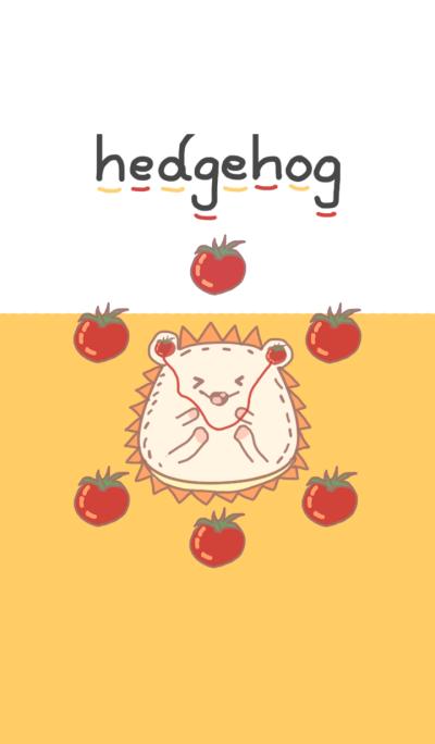 Cute Hedgehog n cute tomato