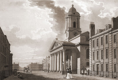 St George's Church, Hanover Square in 1787
