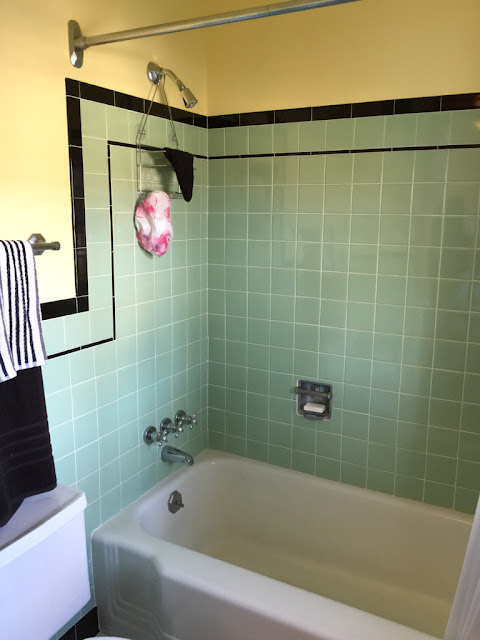 One of the bathrooms in the Haines Show House