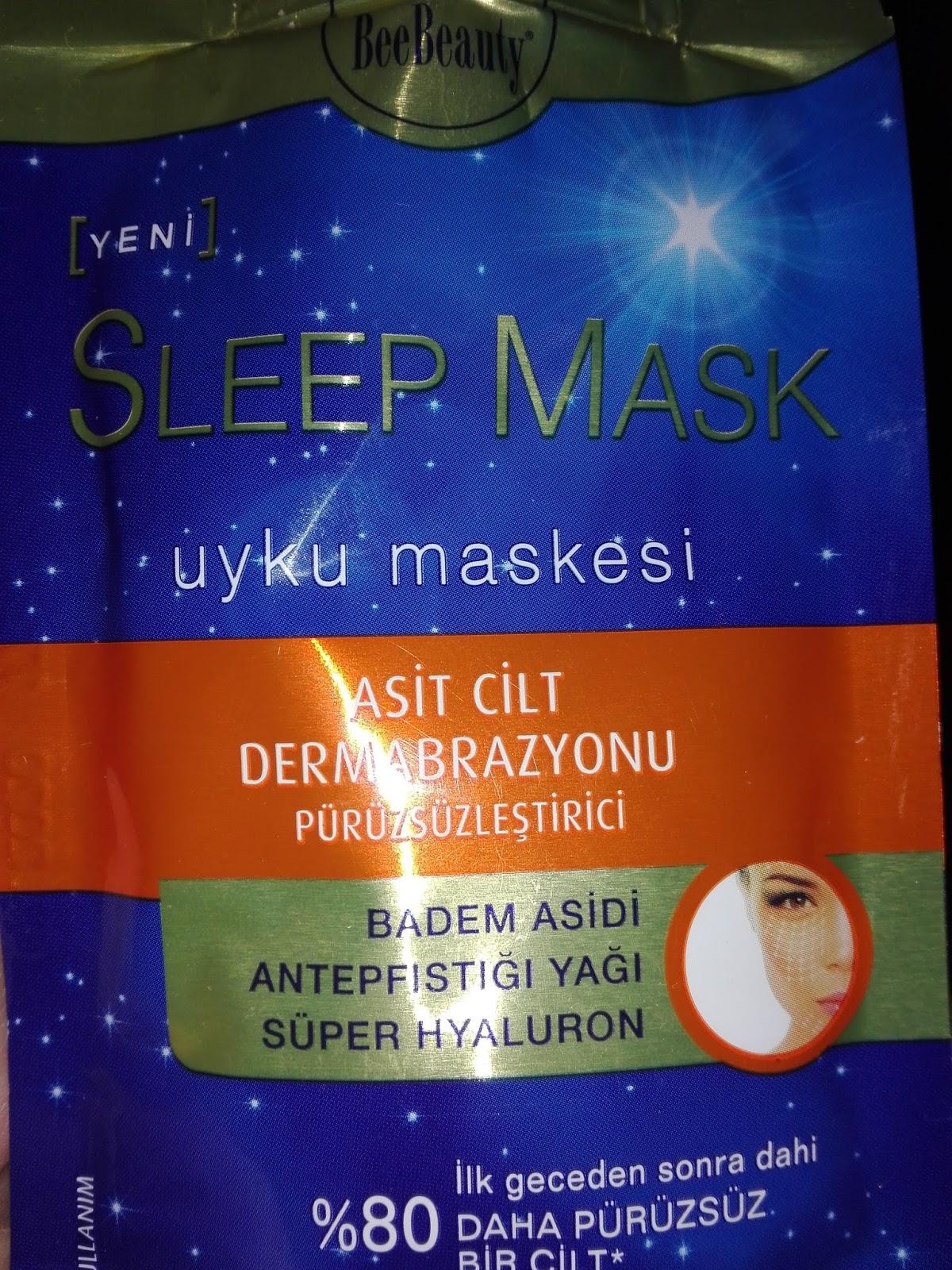 Bee Beauty Sleep Mask inceleme