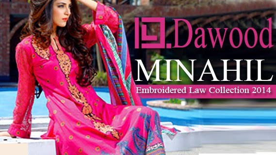 95295da1f0 Dawood | Minahil Embroidered Lawn Collection 2014 by Dawood - She9 ...