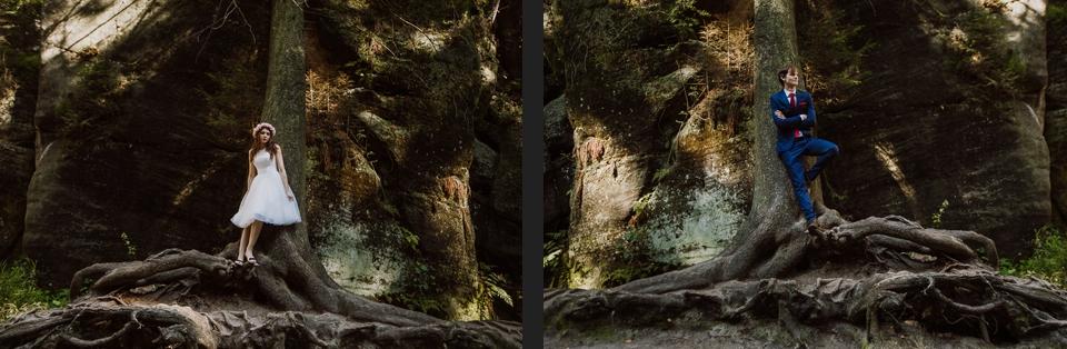 wiane, krótka sukienka, sesja plenerowa skalne miasto