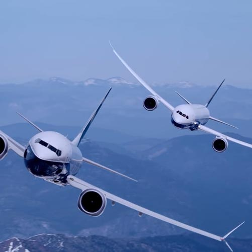 Boeing 787 And 737 Flying Together Wallpaper Engine