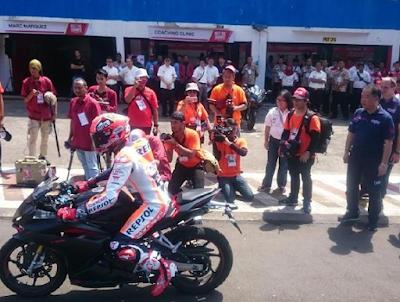 Marquez Jajal Honda CBR250RR di Sirkuit Sentul