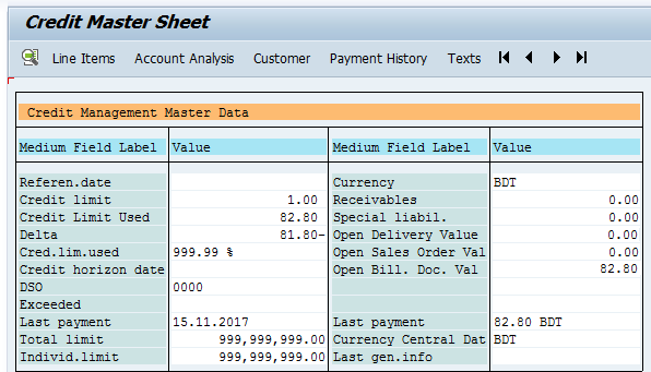 SAP SD-MM Consultant || Bangladesh: Changes in Credit master sheet