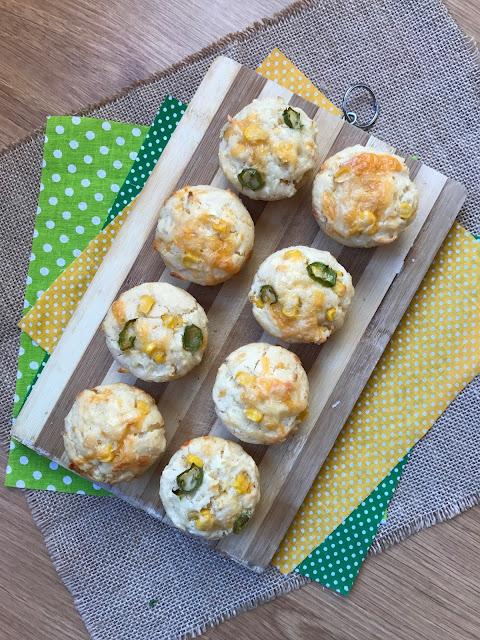 cheddar cornbread muffins receta