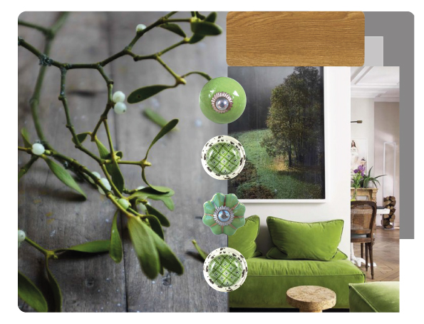 bouton de meuble greenery