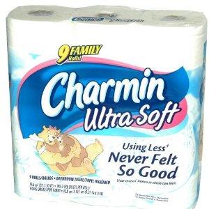 Charmin Ultra Soft Bathroom Tissue 9 Family Rolls Toilet