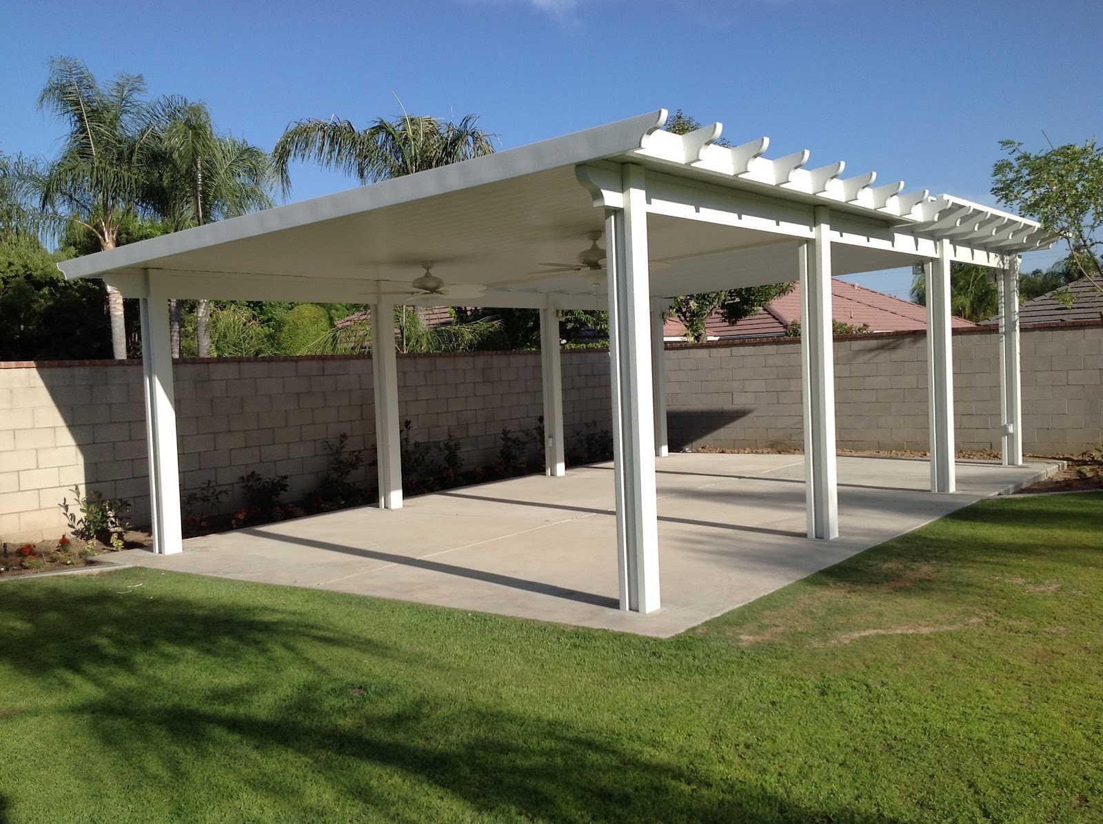 Lapham Construction Stand Alone Patio Cover With Ceiling
