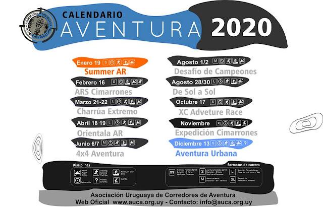 Calendario 2020 de carreras de aventura en Uruguay