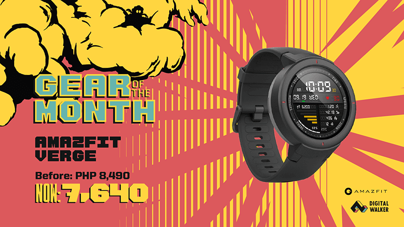 Sale Alert: Amazfit Verge is priced at just PHP 7,640 this month