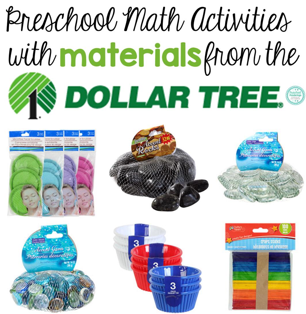 Preschool Ponderings: Math Activities With Dollar Tree