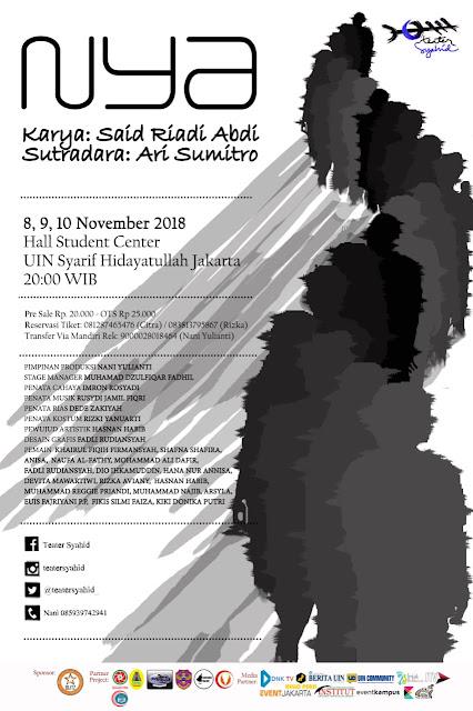 """Teater Syahid UIN Syarif Hidayatullah Siap Pentaskan """"Nya"""""""