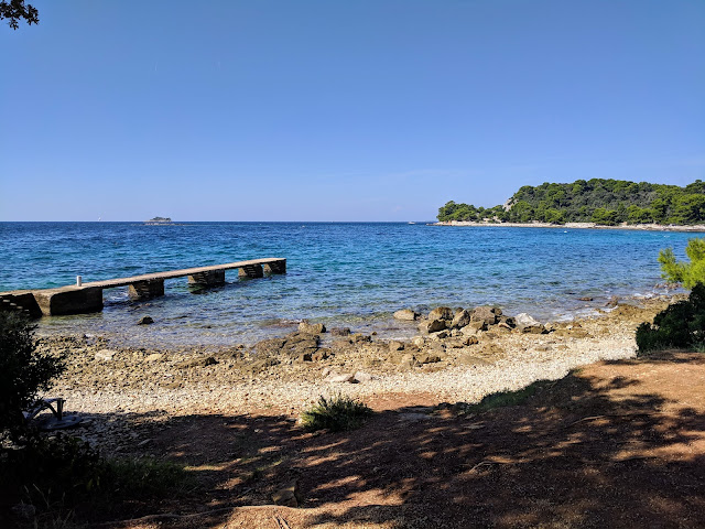 Views of the Adriatic Sea near Rovinj Croatia