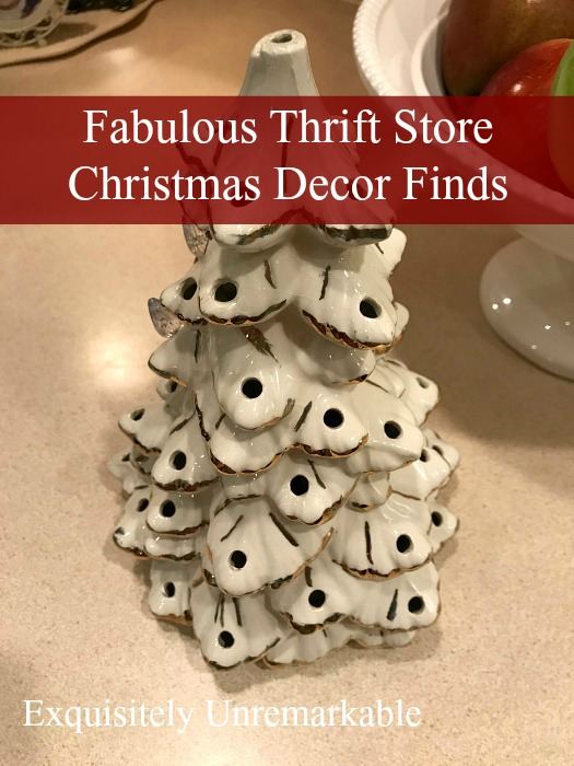 You can grab some great Christmas decor items at the thrift store, just keep your eyes and your mind open!