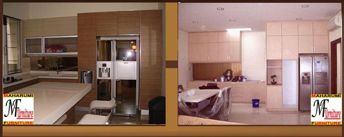 custom setting interior kitchen set