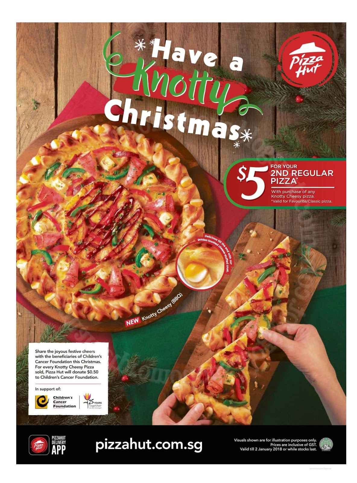 Is Pizza Hut Open On Christmas.Pizza Hut Knotty Christmas Promotion 28 November 2017