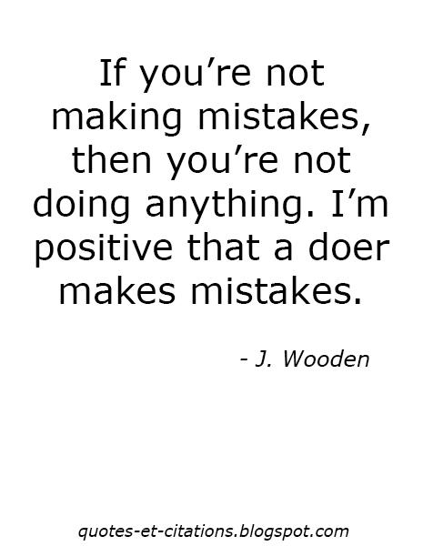 citation faire des erreurs