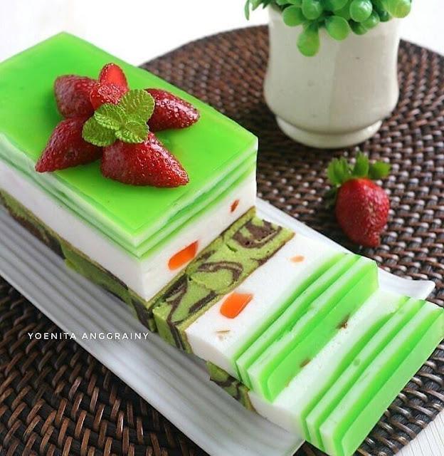 Resep dan cara membuat Cake Lapis Puding