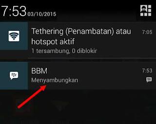 Mengatasi tanda menyambungkan di BBM android