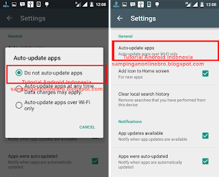 setting otomatis update android 2