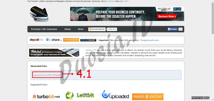 Cara Download di Uploaded.net dan Tanpa Akun Premium menggunakan premiumleech.eu Langkah ke 4.1