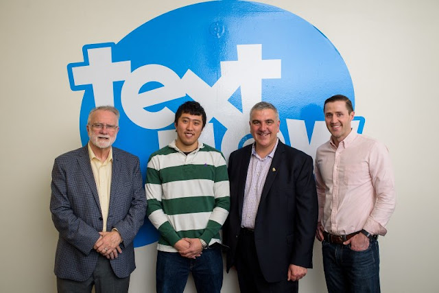 Canadian mayors and TextNow execs at San Francisco office opening