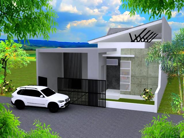 Tren Desain Rumah Minimalis Atap Miring 2 Lantai