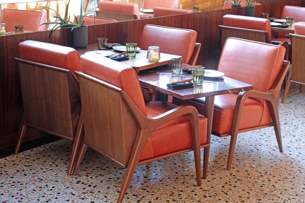 Seats at Mexican Restaurant Ella Canta at Park Lane Intercontinental, London - UK lifestyle blog