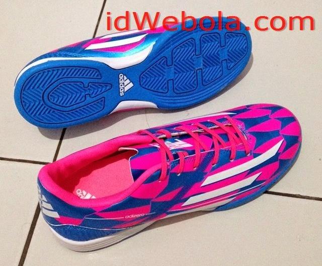 Sepatu Futsal Adizero Biru Pink