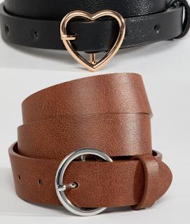 image result asos design 2 pack belts