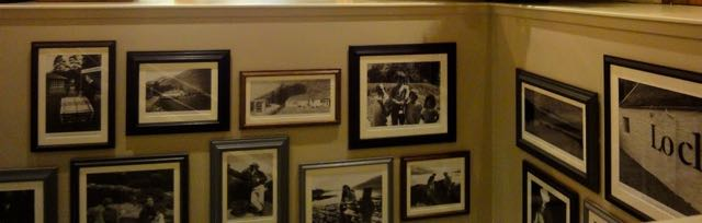 Prints adorning a wall in Loch Fyne Restaurant