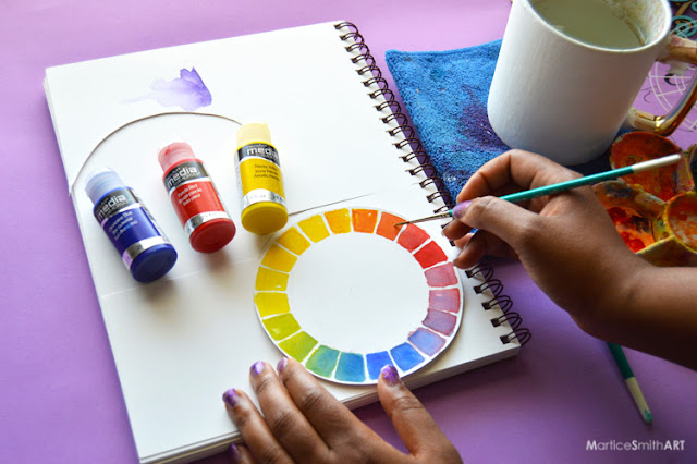 Make a color wheel for your art journal