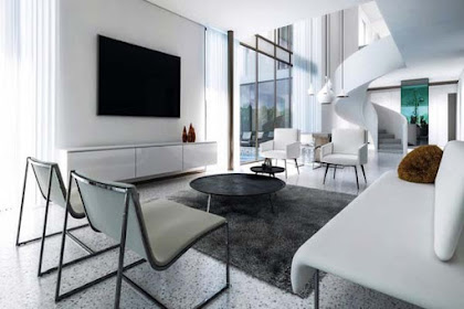 Living Room Minimalist Modern: Making Do with Glass Walls