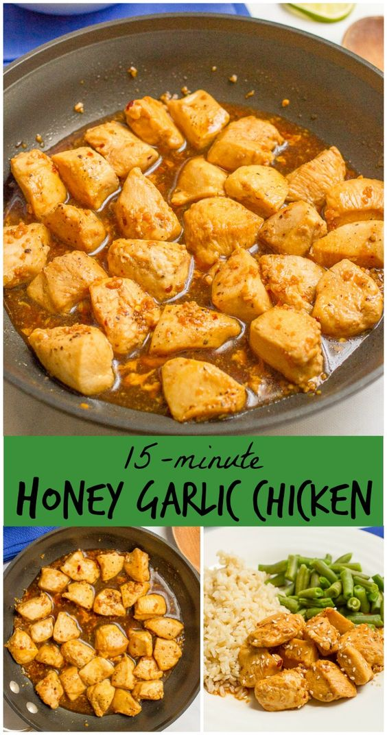15-MINUTE HONEY GARLIC CHICKEN #honey #garlic #chicken #chickenrecipes #easyrecipes #easychickenrecipes