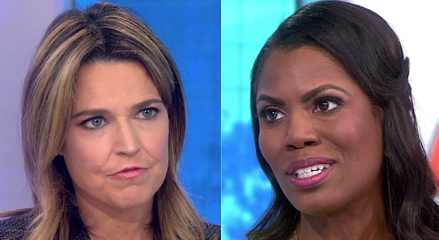 Omarosa cuts off 'Today' appearance, tells Savannah Guthrie to 'calm down' during bizarre interview
