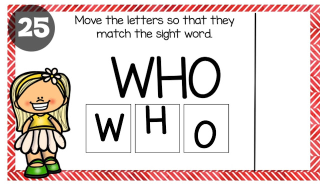 Boom example sight words