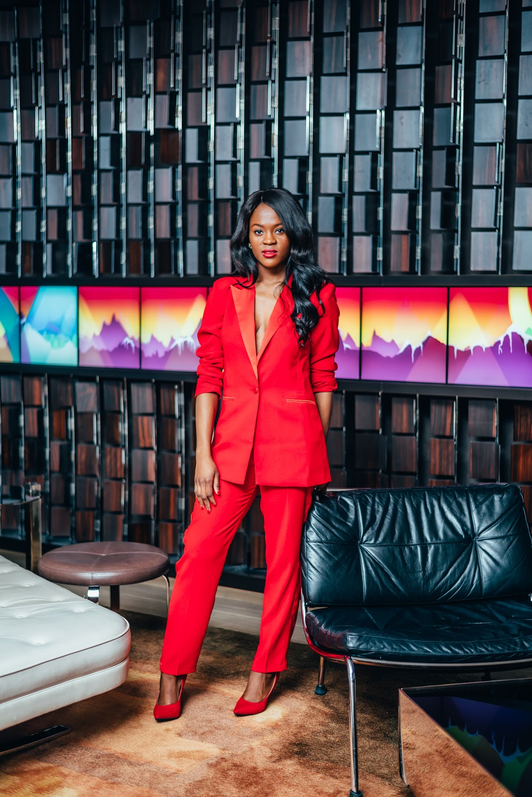 Red Power Suit, Cranberry Tantrums, Jennifer Ibe