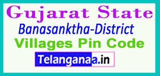 Banaskantha District Pin Codes in Gujarat State
